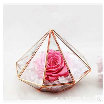 Pentagon Ball Shape Open Plants Glass Terrarium