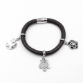 Factory Direct Stingray Leather Bracelet with Custom Made Charms