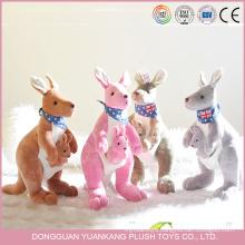 Wholesale Stuffed Blue Baby Kangoroo Plush Toy for Children Gift