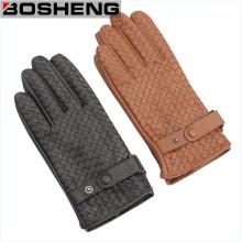Unisexe en acier inoxydable tendu à la main Tissu à motifs en cuir synthétique