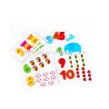 Vente chaude en bois bloc cube puzzle 3d éducation jouet