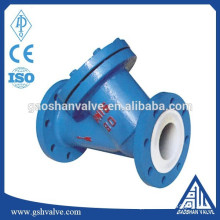 carbon steel ptfe lined y strainer