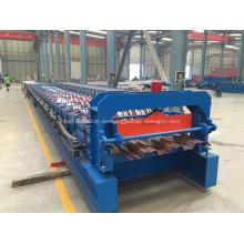 Desenrollador hidráulico + máquina perfiladora de pisos
