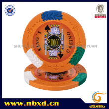 14G 4-тональный King's Casino Clay Poker Chip с пользовательскими наклейками