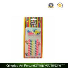 Vela de aniversário espiral para crianças decoração do partido