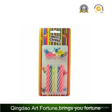 Vela de cumpleaños de espiral para decoración de fiesta de niños