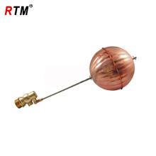 válvula de esfera flutuante de latão com esfera