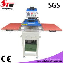 Máquina de impressão dobro hidráulica da transferência térmica da estação do óleo da melhor qualidade para Farbic