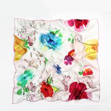 Silk Big Square Scarf 110 * 110 см для женщин