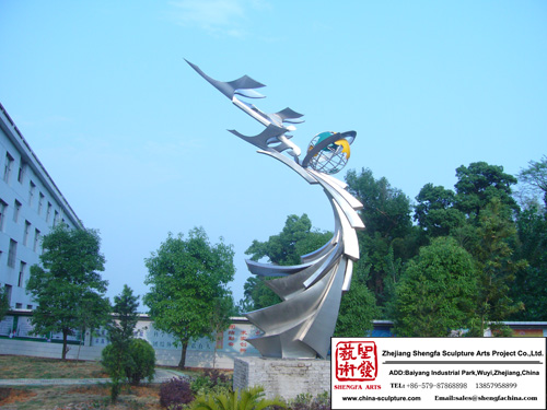 Gorgeous Outdoor Stainless Steel Sculpture