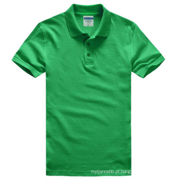 Algodão pesado com Spandex Moda Custom Men Polo T-Shirt
