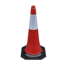 Bottom price for Parking Cones 75cm Soft Flexible PE plastic traffic safety pylon export to Russian Federation Importers