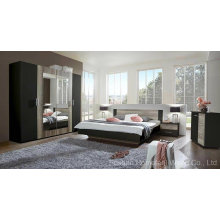 Amazing Color Mixed Wooden Bedroom Furniture Set (HF-EY08271)