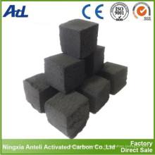 Briquetas activadas de carbón de Shisha de cáscara de coco