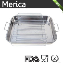Stainless Steel Food Tray with Rack