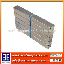 N35-N52 coated Nickel strip shape permanent sintered neodymium magnet/nickel coated rectangle magnet for sale