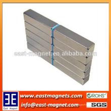 N35-N52 revestido níquel strip forma permanente sinterizado neodímio ímã / níquel revestido retângulo ímã à venda