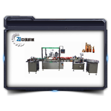 glass dropper bottle filling and capping machine