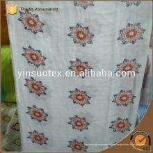 Preço barato algodão orgânico belo design cobertor bebê