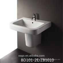 EAGO bassin monotrou en céramique avec demi-piédestal BD101-2E