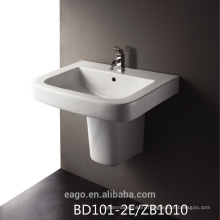 EAGO single hole Ceramic basin with semi-pedestal BD101-2E