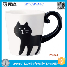 Adorable Black Cat Tail Mug Cup Ceramic Animal Cup