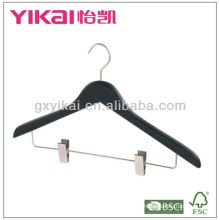 Deluxe Rubber Coated Hanger with clips
