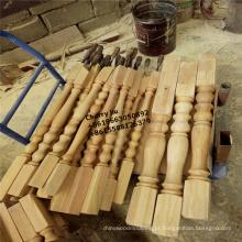 colunas de madeira decorativas