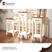 Wooden Living Room Cabinet Flower Stand