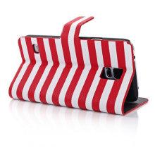 Streifen Brieftasche Design Flip Ledertasche für Samsung S5