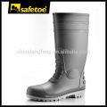 Botas de lluvia de tacón alto, botas de lluvia de seguridad, gumboots de seguridad W-6038