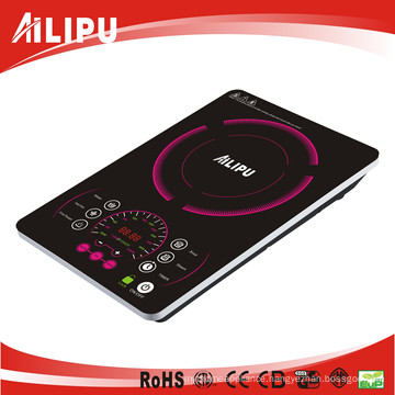 Newly Design Large Crystal Plate Super Slim Induction Cooktop Sm-DC22c)