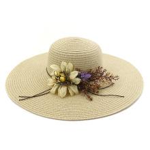 2020 chapeau de paille pliable chapeau de paille tresse d'été