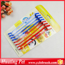 Short Lead Time for Pet Deshedding Brush pet oral brush 8pcs export to Lao People's Democratic Republic Supplier