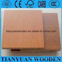 Tablero de partículas de melamina de grano de madera