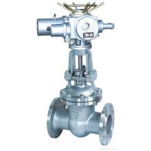 brida POV de alta calidad conectan el hierro fundido de la válvula de compuerta eléctrica