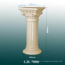 Diseño de interiores moderno de la columna del poliuretano 2015