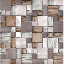 Metal Series Stainless Steel Mix Resin Glass Mosaic
