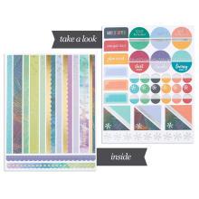 Personalizado extraíble troquelado calendario calendario personalizado papel planificador pegatinas libro