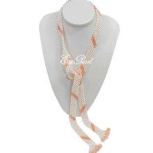 Schal Süßwasser Perle Halskette E13107