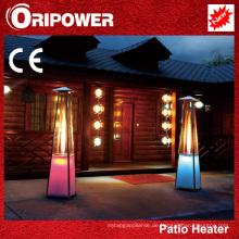 Flammenpatio-Heizung mit LED-Leuchten