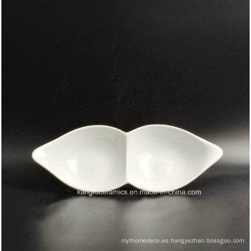 2 Grids Mexican Market Porcelain Dinner Plate