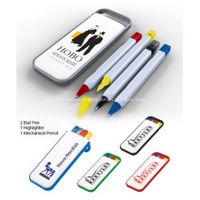 Promotional Desk Pen Set W/Highlighter