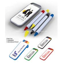 Werbe Schreibtisch Pen Set W/Textmarker