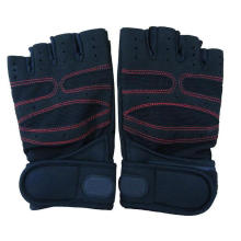 Fitness Training Gym Work Guantes de levantamiento de pesas con medio dedo