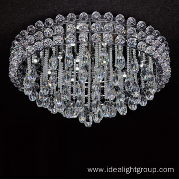 surface mounted crystal lights ceiling led chandeliers