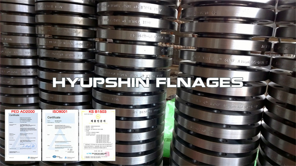 Hyupshin Flanges 150 300lbs Ansi B16 5 Slip On Rf
