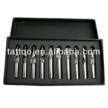 Venda quente de Aço Inoxidável Set Estilo Tatuagem Agulha Dica Hb514