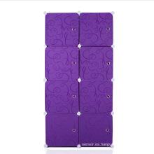 Impresión 3 colores disponibles plegables gabinetes de plástico de vestuario de bricolaje (zh0014)