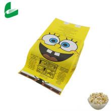 Bolsas de palomitas de maíz de papel Kraft a prueba de grasa